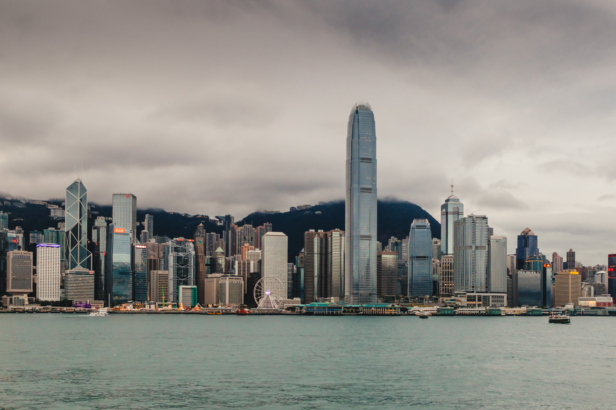 Hong Kong Harbour Day Skyline