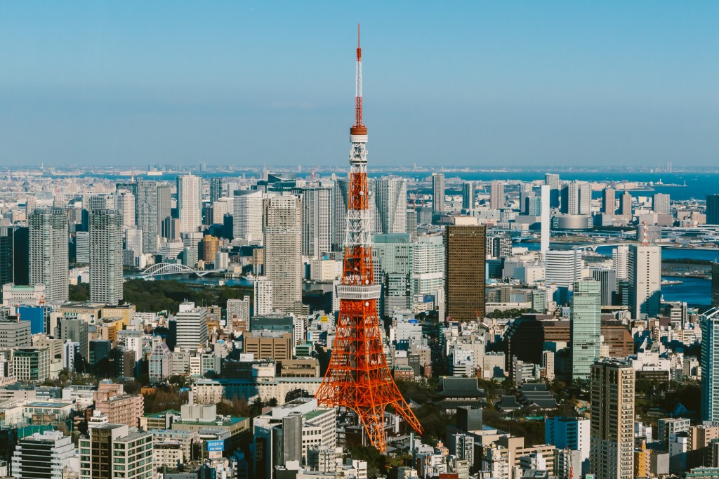 Mori Tower view of Tokyo Tower Japan