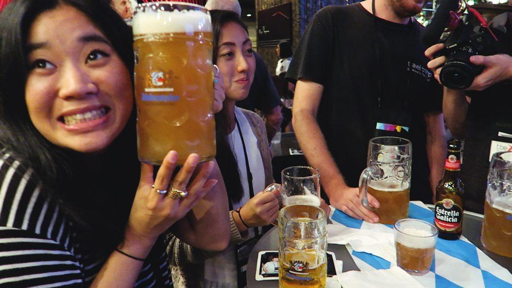 Elly with a Stein Oktoberfest, TBEX Philippines