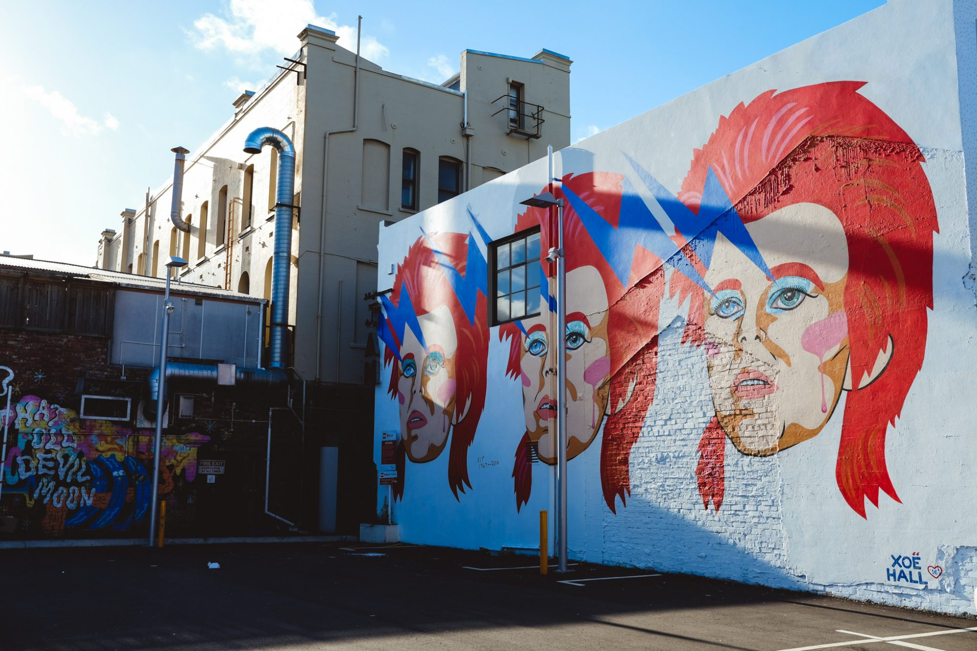 David Bowie Street Art, Wellington