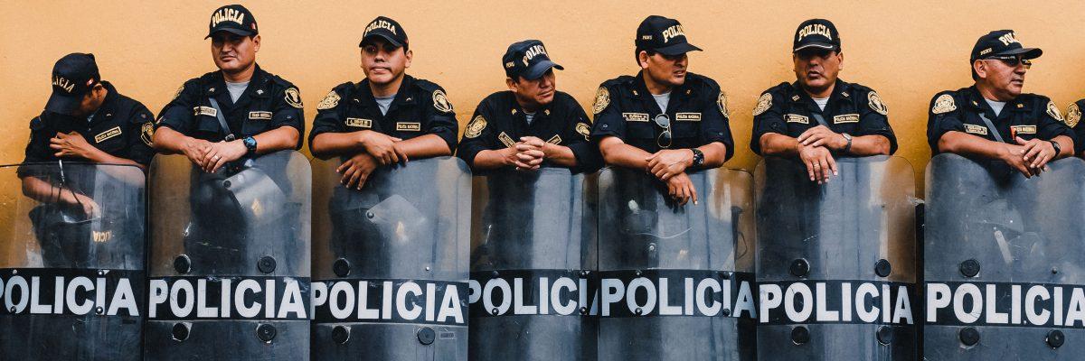 Police in Lima, Peru