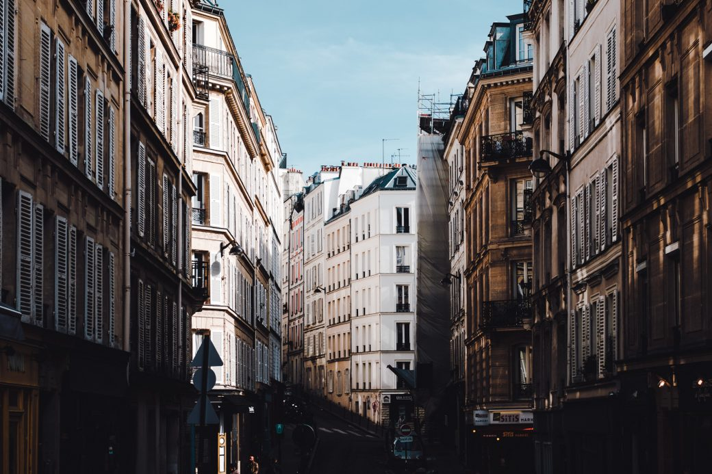 City Streets in Paris, France