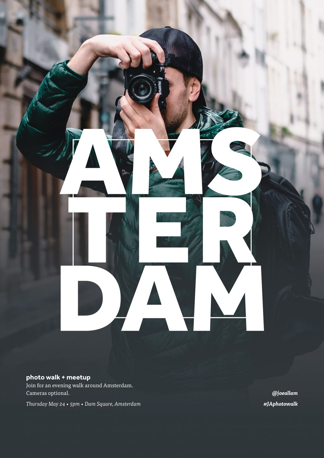Amsterdam photo walk and meet-up poster